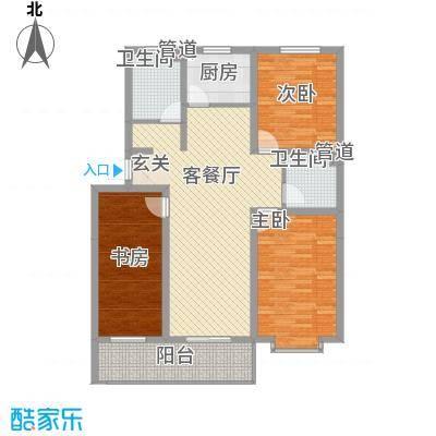 梧桐花园二期-1户型3室2厅2卫