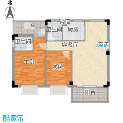 水木天骄1A户型2室2厅2卫1厨