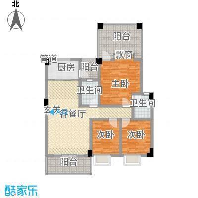 水木天骄2B户型3室2厅2卫1厨