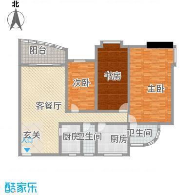 海洋花园172.42㎡户型4室1厅1卫1厨