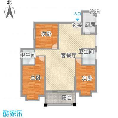 金色华庭A403户型3室2厅2卫