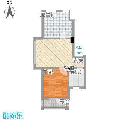 中房东汤一品55.80㎡-F3户型1室1厅1卫1厨
