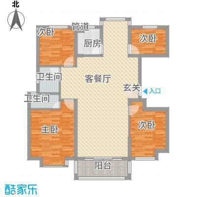 金色华庭A407户型4室2厅2卫