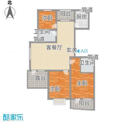 利源帝景145.11㎡L户型3室2厅2卫1厨