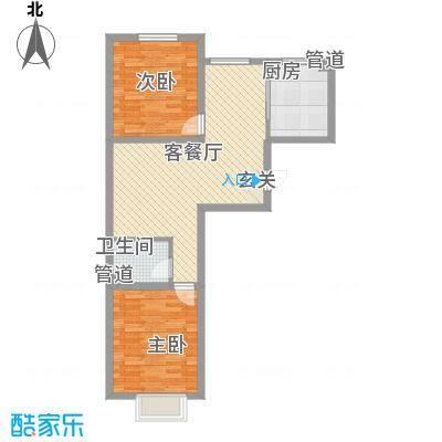 利源帝景85.36㎡C户型2室2厅1卫1厨