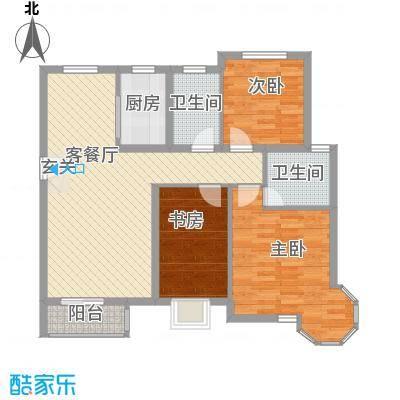 天元蓝城124.13㎡322-12413户型3室2厅2卫