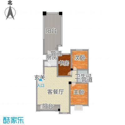 丰远・泗水玫瑰城118.35㎡洋房D1-2户型3室2厅1卫
