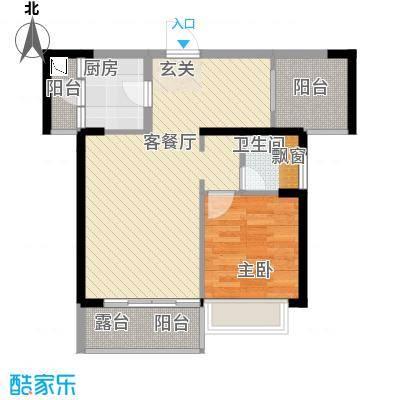 太东・棕榈泉68.00㎡4栋03/04(2-28偶数层)户型1室2厅1卫1厨