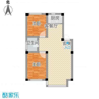 人禾金华苑76.78㎡211-7678户型2室1厅1卫
