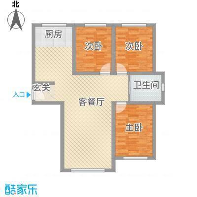 人禾金华苑14.50㎡311-1045户型3室1厅1卫