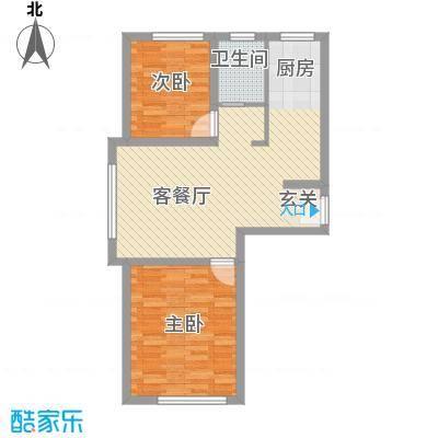 人禾金华苑73.00㎡211-73户型2室1厅1卫
