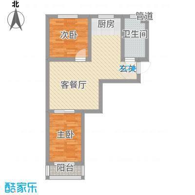 人禾金华苑5.10㎡211-591户型2室1厅1卫