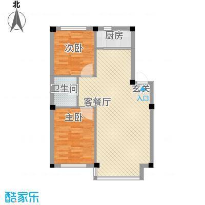 人禾金华苑8.30㎡211-803户型2室1厅1卫