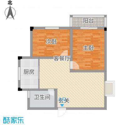 凯丽滨江86.10㎡户型