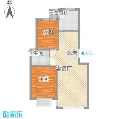 愉景湾85.00㎡户型