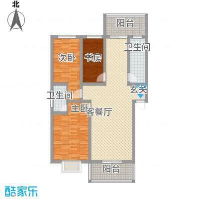 地久艳阳天13.50㎡11#楼A户型3室2厅2卫1厨