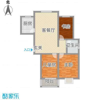 鼎盛・帕堤欧112.80㎡N2户型3室2厅1卫1厨