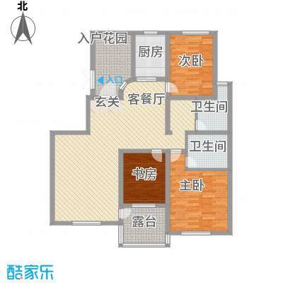 鼎盛・帕堤欧148.40㎡J户型3室2厅2卫1厨