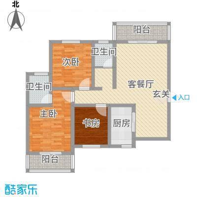 鼎盛・帕堤欧12.40㎡P户型3室2厅2卫1厨