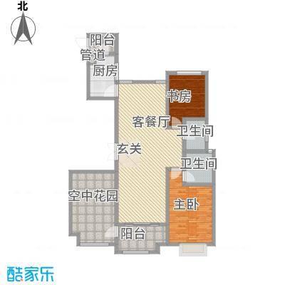 华富世家168.62㎡华富户型3室2厅2卫