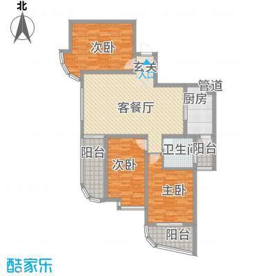 澜湾盛景137.31㎡A区3#B户型