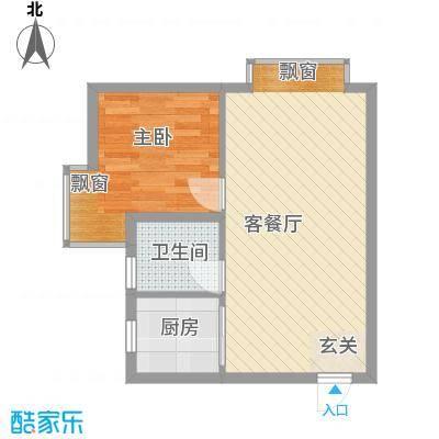 一品名门云墅58.78㎡康年国际公寓户型