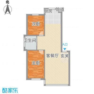 禾泰嘉园88.50㎡J户型2室2厅1卫
