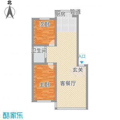 禾泰嘉园88.40㎡I户型2室2厅1卫