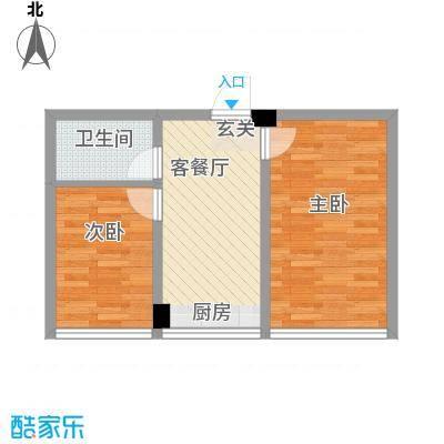 映豪小区58.00㎡58-60户型2室1厅1卫