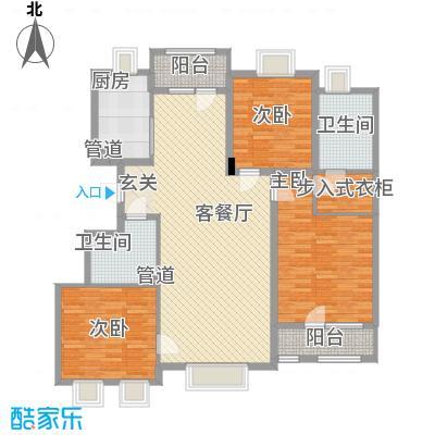 瀚新东方托莱多148.22㎡16#14822-拷贝户型3室2厅2卫
