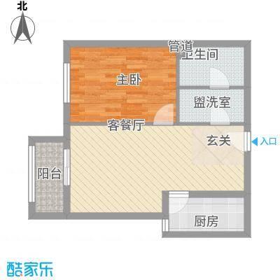 一等海3#/5#-B户型1室2厅2卫1厨