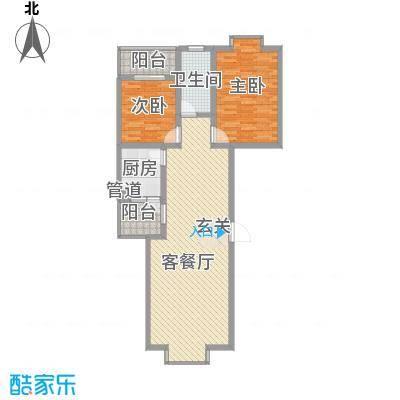 兴发城东逸景8.55㎡城东逸景户型2室2厅1卫1厨