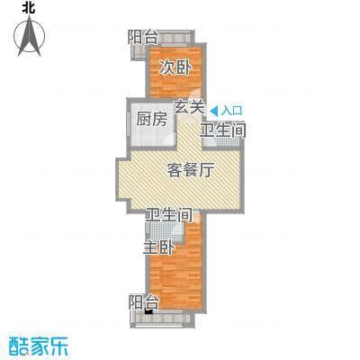 华兴太阳城・东领伯爵7#楼A户型2室2厅2卫