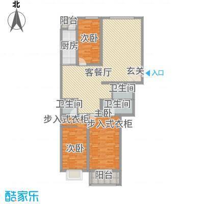 华兴太阳城・东领伯爵155.10㎡8#楼C户型3室2厅3卫