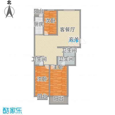 华兴太阳城・东领伯爵153.00㎡7#楼E户型3室2厅3卫