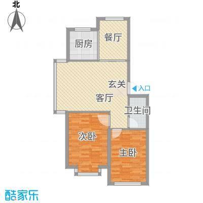 宇城轩花园8.28㎡G户型2室2厅1卫1厨
