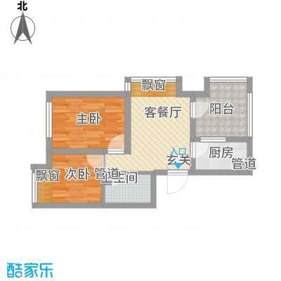 钓鱼台三号院5.58㎡户型2室1厅1卫