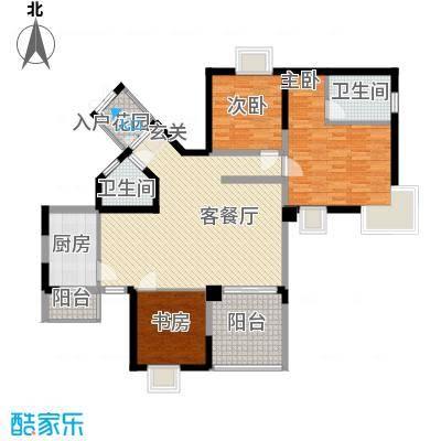 金元国际新城136.00㎡户型3室