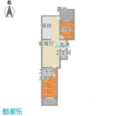 华兴太阳城・东领伯爵8.50㎡9#L户型2室2厅2卫