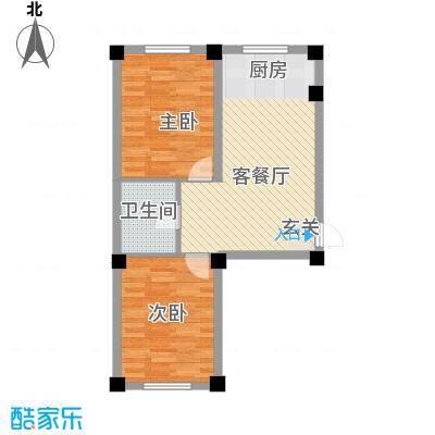 意利黄海明珠72.60㎡户型2室2厅1卫