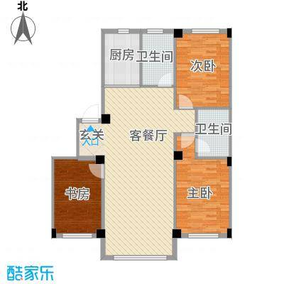 意利黄海明珠111.16㎡户型3室2厅2卫