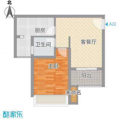 德阳世家城南一号A2-4面积:57.72m2