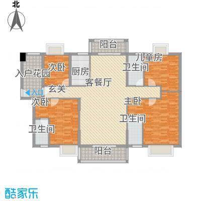 锦绣豪庭15.10㎡C2户型4室2厅2卫1厨