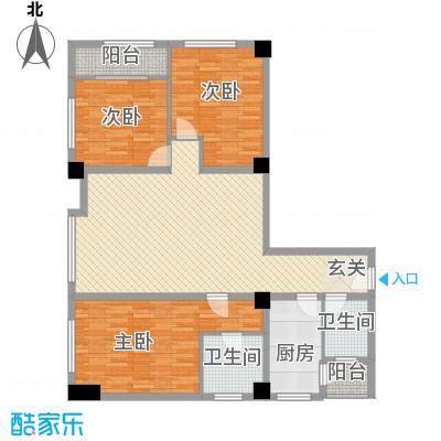 天悦国际公寓135.63㎡C户型3室2厅2卫