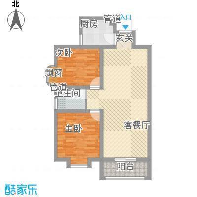 东城100(微笑城堡)87.60㎡东城100F户型2室2厅1卫