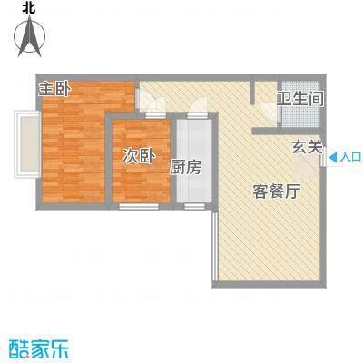 泰和园83.10㎡D1户型2室2厅1卫1厨