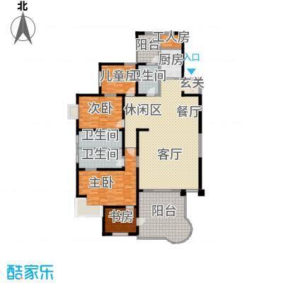龙汇花园218.40㎡8栋C、D型户型5室3厅3卫1厨