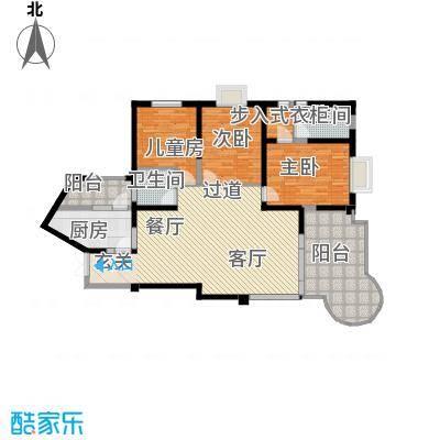 龙汇花园145.62㎡8栋A、F型户型3室2厅2卫1厨