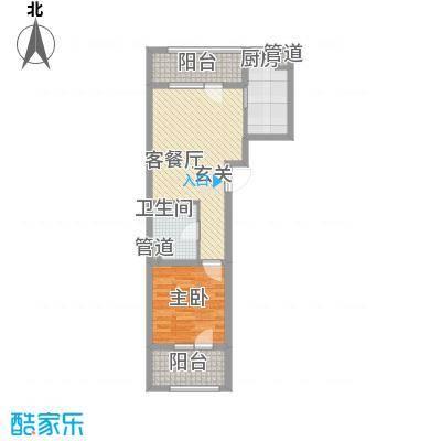 朗诗国际街区65.00㎡A2户型1室1厅1卫1厨