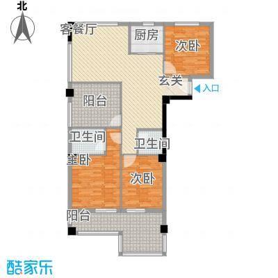 财富广场13.50㎡36号楼4-11层F户型3室2厅2卫1厨